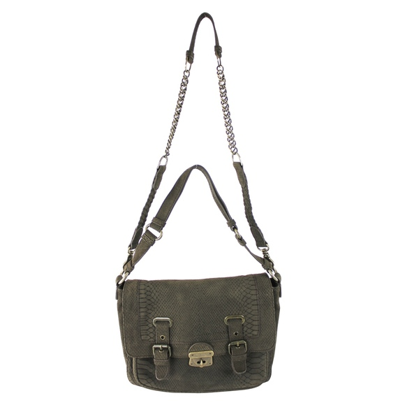 Worth Handbags - W by Worth Leather Snake Skin Shoulder Chain Bag